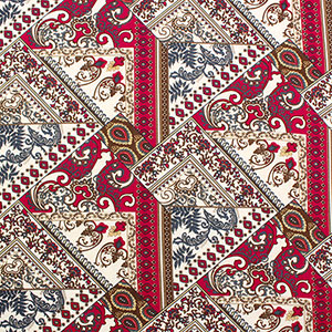 Half Yard Ornate Paisley Patchwork Cotton Jersey Blend Knit Fabric