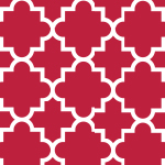 Quatrefoil Samba Red Cotton Jersey Blend Knit Fabric