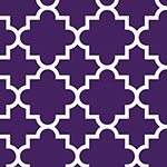Quatrefoil Acai Purple Cotton Jersey Blend Knit Fabric