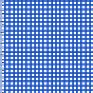 Half Yard Classic Blue Gingham Cotton Jersey Blend Knit Fabric