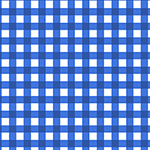 Classic Blue Gingham Cotton Jersey Blend Knit Fabric