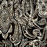Big Henna Paisley Brown Cotton Jersey Blend Knit Fabric