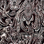 Big Henna Paisley Red Cotton Jersey Blend Knit Fabric