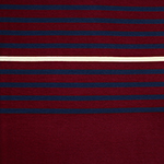 Burgundy Navy Cream Multi Stripe Cotton Jersey Blend Knit Fabric