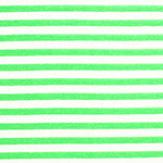 Bright Green White Small Stripe Cotton Jersey Blend Knit Fabric