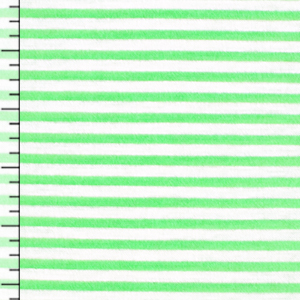 Bright Green White Pinstripe Cotton Jersey Blend Knit Fabric