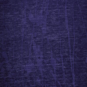 Royal Blue Branches Burnout Cotton Jersey Blend Knit Fabric