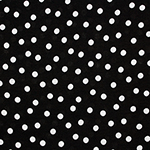 Scattered White Dots on Black Cotton Jersey Knit Fabric