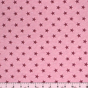Vintage Mulberry Stars Heather Cotton Jersey Knit Fabric