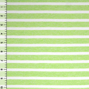 Sherbet Green Breton Stripe Cotton Jersey Knit Fabric