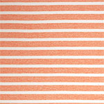 Sherbet Orange Breton Stripe Cotton Jersey Knit Fabric
