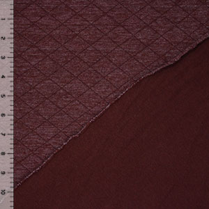 Burgundy Diamond Heather Solid Two Sided Cotton Jersey Knit Fabric