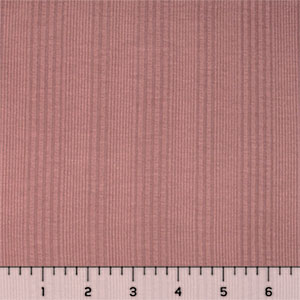 Dusty Rose Vertical Rib Cotton Jersey Blend Knit Fabric