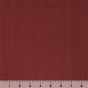 Brick Red Vertical Rib Cotton Jersey Blend Knit Fabric