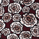 Mauve Maroon Carnation Floral Cotton Jersey Blend Knit Fabric