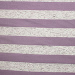 Orchid and Oatmeal Stripe Cotton Jersey Blend Knit Fabric