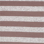 Cocoa and Oatmeal Stripe Cotton Jersey Blend Knit Fabric