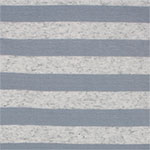 Steel and Oatmeal Stripe Cotton Jersey Blend Knit Fabric