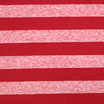 Red and Red Oatmeal Stripe Cotton Jersey Blend Knit Fabric