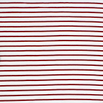 True Red Small Stripe On White Cotton Jersey Knit Fabric