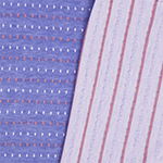 Coral White Squares & Stripes Two Sided Cotton Jersey Knit Fabric