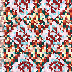 Multicolor Quilted Diamonds Modal Cotton Jersey Knit Fabric