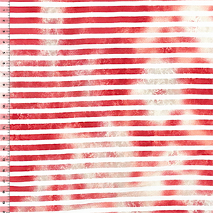 Tie Dye Red White Small Stripe Cotton Jersey Blend Knit Fabric