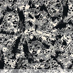 Slightly Flawed Jungle Leopard Camo Mix Cotton Jersey Knit Fabric