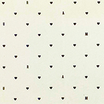 AMOUR Hearts on Cream Cotton Jersey Blend Knit Fabric