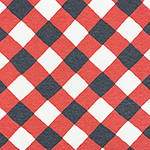 Denim Red Lattice Plaid Cotton Jersey Blend Knit Fabric
