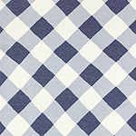 Denim Blue Lattice Plaid Cotton Jersey Blend Knit Fabric