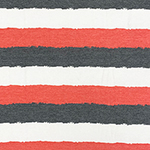 Denim Black Red Painted Stripes Cotton Jersey Blend Knit Fabric