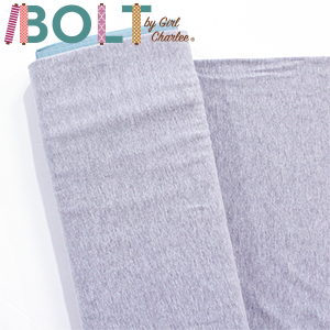 10 Yard Bolt Heather Gray Solid Cotton Spandex Knit Fabric