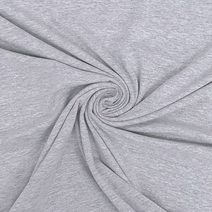 Half Yard Heather Gray Solid Cotton Lycra Knit Fabric