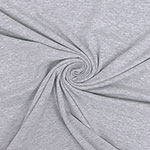 Heather Gray Solid Cotton Spandex Knit Fabric