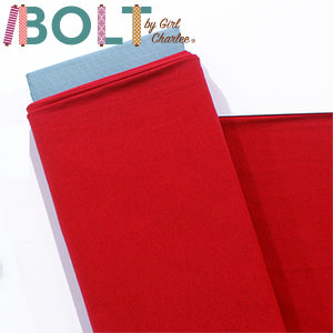 10 Yard Bolt True Red Solid Cotton Spandex Knit Fabric