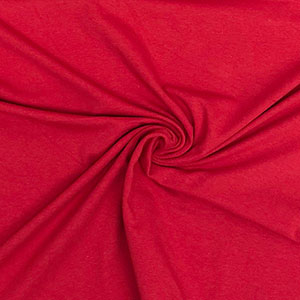 True Red Solid Cotton Spandex Knit Fabric
