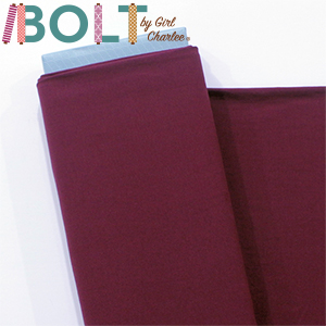 10 Yard Bolt Burgundy Red Solid Cotton Spandex Knit Fabric