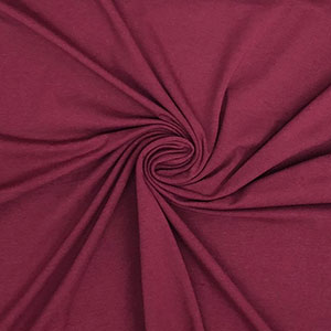 Burgundy Red Solid Cotton Spandex Knit Fabric