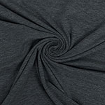 Heather Charcoal Gray Solid Cotton Spandex Knit