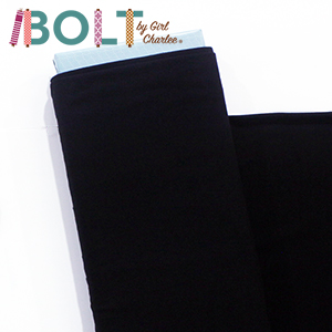10 Yard Bolt Black Solid Cotton Spandex Knit Fabric