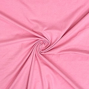 Light Pink Solid Cotton Spandex Knit Fabric
