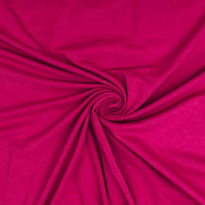 Dark Fuchsia Pink Solid Cotton Spandex Knit Fabric