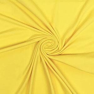 Lemon Yellow Solid Cotton Spandex Knit Fabric