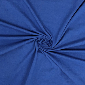 Royal Blue Solid Cotton Spandex Knit Fabric