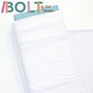 10 Yard Bolt White Solid Cotton Spandex Knit Fabric