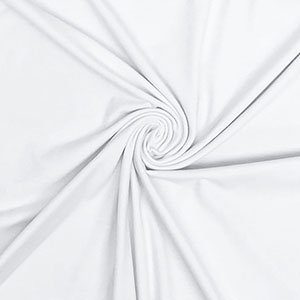 White Solid Cotton Spandex Knit Fabric
