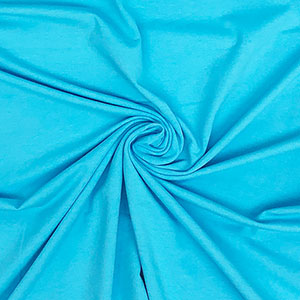 Turquoise Blue Solid Cotton Spandex Knit Fabric