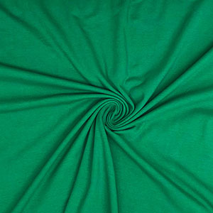 True Kelly Green Solid Cotton Spandex Knit Fabric