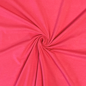 Hot Coral Solid Cotton Spandex Knit Fabric